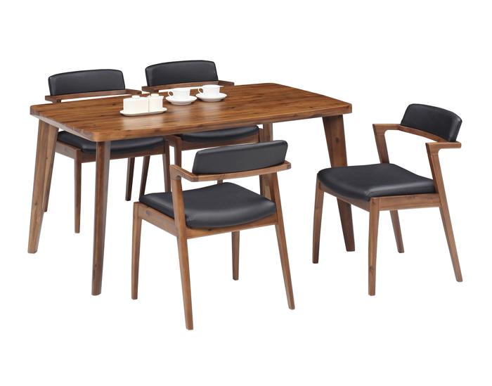 アデル 140ダイニングテーブル アカシア 無垢 天然木 モダン ナチュラル デザイナーズ 食卓 4人用