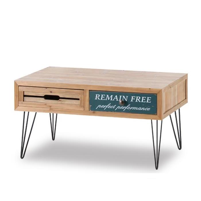 【送料無料】 アンティーク センターテーブル 80 Cain カイン   北欧 ローテーブル コーヒーテーブル レトロ 木 木製 天然木 杉 シャビーシック カントリー 引出し 収納 便利 シンプル かわいい おしゃれ 送料無料
