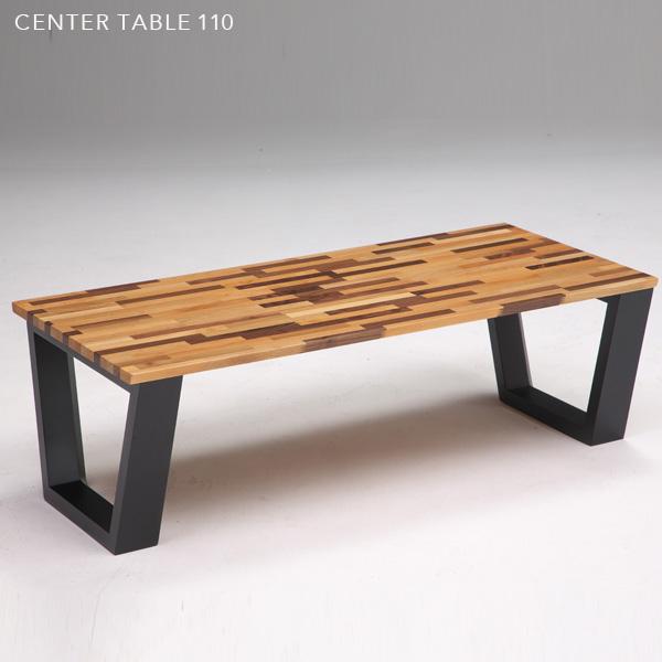 【送料無料】 リビングテーブル 110 モザイク風 木製 モザイク柄 北欧風 センターテーブル コーヒーテーブル ローテーブル カフェテーブル アンティーク風 110cm レトロ 個性的 モダン かわいい おしゃれ