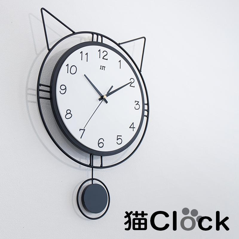 高級品 オシャレ壁掛け時計 軽くて丈夫 猫耳 時計 シンプル アイアン 黒 かわいい 黒ネコ 壁掛け時計 おしゃれギフト 引っ越し 新生活 日本 シンプル可愛いから結婚祝いにもお勧め 新築祝いの贈り物に クロック 可愛い壁掛け時計 振り子時計 オシャレ キャット 北欧 軽い モダン ウォール時計 丈夫 静音 かわいい黒ネコ 猫