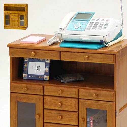 マルチFAXラック ダブル 幅72cm ファックス台 FAX台 電話台 でんわ台 収納棚 天然木 フクダクラフト 完成品
