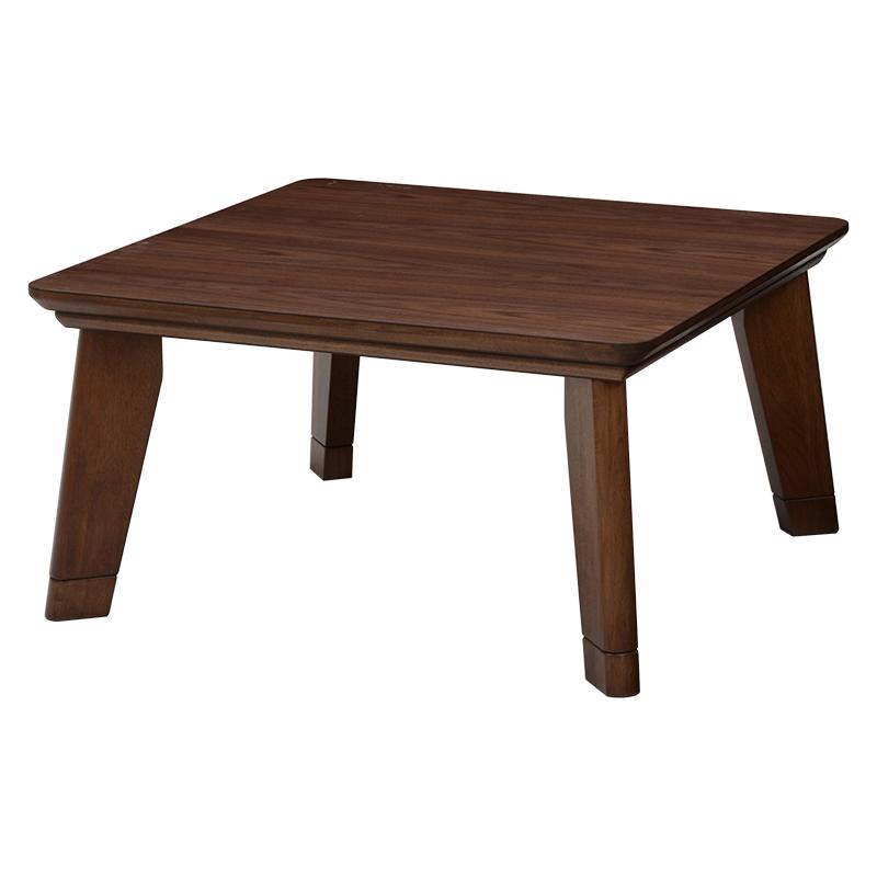 リビングコタツ 幅80cm リノCF80 ブラウン ナチュラル こたつ コタツ 炬燵 木製 長方形 正方形 茶色 男前家具 リビング テーブル オールシーズン使える 薄型ヒーター フラットヒーター スタイリッシュ おしゃれ 送料無料
