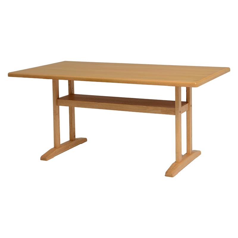 ロータイプダイニングテーブル 幅145 奥行80 ダイニングソファー用 おしゃれ 木製 北欧 シンプル 木目 棚付き 低め ダイニングテーブル テーブル ソファー用 送料無料 新生活 VDT-7306NA