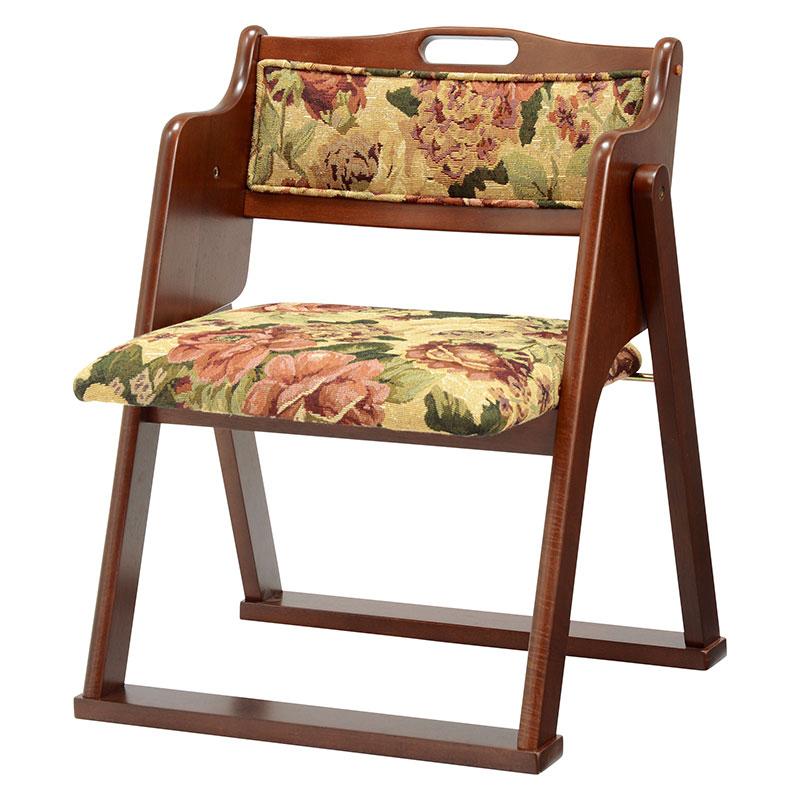 折りたたみチェア 幅50 チェア チェアー おしゃれ 折りたたみチェア 木製 椅子 イス 折りたたみ ゴブラン 送料無料 VC-7946