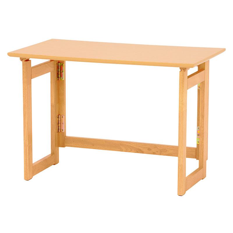 折りたたみテーブル 幅80 奥行40 高さ55 折り畳み 折畳み ナチュラル 木目 ベージュ テーブル デスク 木製 おりたたみ キャスター 送料無料 新生活 作業台 スペース活用 VT-7810NA