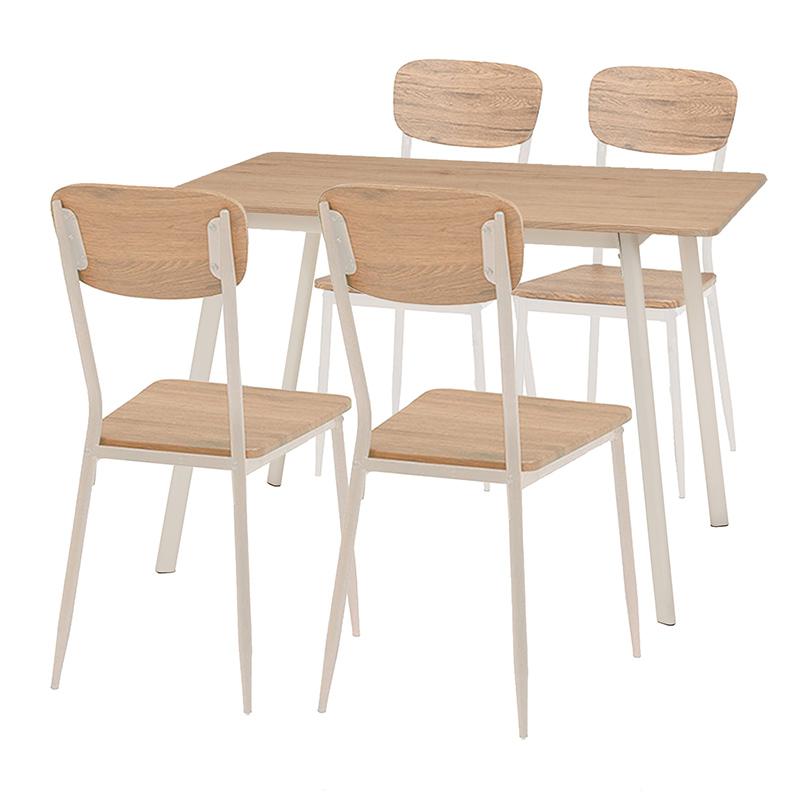 ダイニングセット 4人掛け ダイニング5点セット テーブル 幅110cm チェアー ダイニングテーブルセット 4人 ダイニングチェアー 北欧 西海岸 カフェ風 リビングダイニング 食卓テーブル 木製 おしゃれ 送料無料 新生活 LDS-4913WH