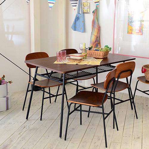 チェア スチール 木製 カフェ風チェア チェア ダイニングチェア 椅子 イス チェアー レトロ ヴィンテージ ビンテージ アイアン ウォールナットカロンチェア 76-43 おしゃれな家具シリーズ ca76-43 送料無料