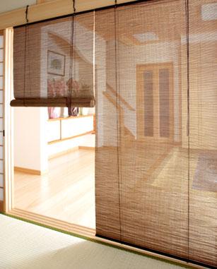 燻製 竹ロールスクリーン RC-1250S 幅88cm x 高さ135cm 竹製 和風ブラインド スクリーン ロールスクリーン 模様替え 和風 日よけ 日除け ブラインド おしゃれ アジアン ジャパニーズモダン 間仕切り 目隠し 和室 カフェ リゾート 窓 バンブースクリーン 送料無料