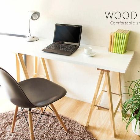 ワークデスク 木製 パソコンデスク 幅120cm 送料無料 シンプルデザイン 木製テーブル 書斎デスク 木製デスク バーテーブル おしゃれ 北欧 北欧テーブル キッチン リビング
