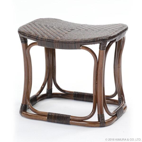 ラタン手編み スツールWAHOO スツール 職人手編みによるコンパクトな籐椅子 座面が網代編みで弾力と通気性に優れたチェア C427KA 送料無料 組立不要