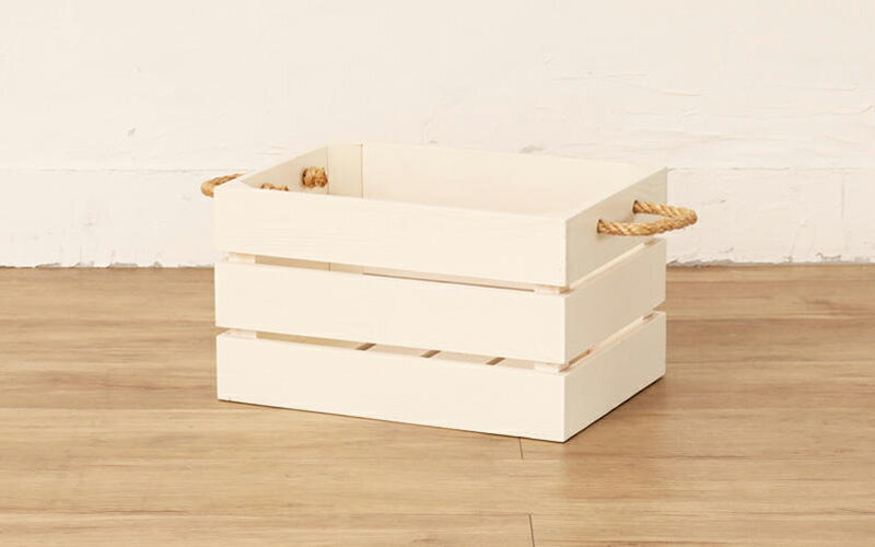 木製 収納ボックス バスケット 組立不要