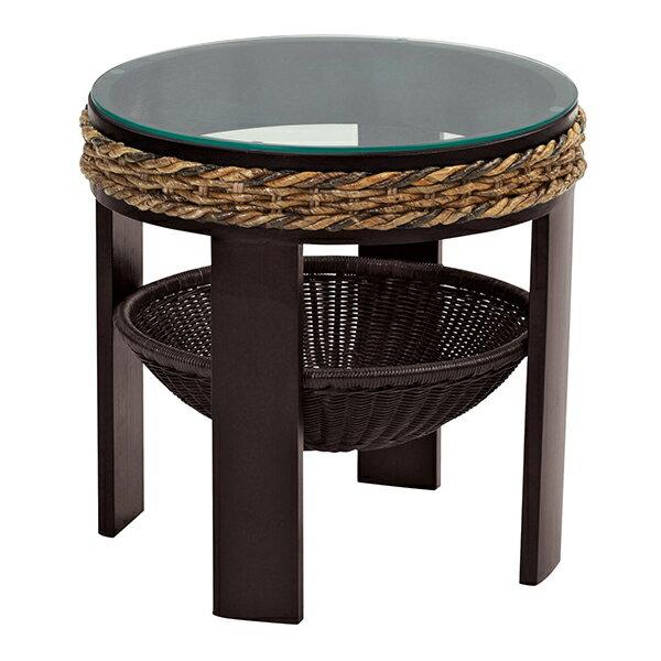 バナナリーフ サイドテーブルBnana leaf テーブル 天然素材のバナナリーフと 軽くて丈夫な籐机 T145AT 送料無料