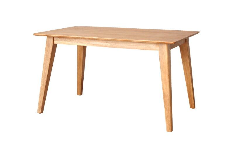 チーク無垢材 ナチュラルダイニングテーブル 125cm幅(オプション伸長可)