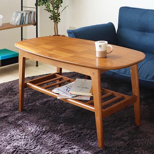 【送料無料】 【Bricky】 テーブル センターテーブル ローテーブル 幅105 リビングテーブル カフェテーブル 木製 収納棚