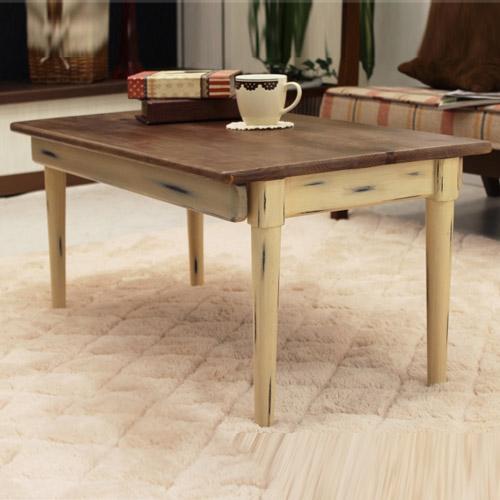 【送料無料】 【デイジー】 折脚テーブル 折りたたみテーブル 折り畳み 折れ脚 木製 センターテーブル ローテーブル リビングテーブル フレンチカントリー 完成品 1人暮らし Daisy