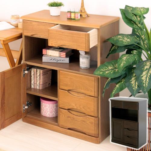 【送料無料】 タモFAX台60幅 ファックス台 電話台 FAX台 木製 引き出し付き 収納家具 幅60 完成品