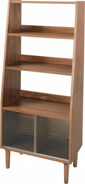 シェルフ 木製 幅65cm 3段 木製シェルフ ガラス オープンラック 魅せる収納 本棚 ラック インテリアシェルフ ディスプレイ ウッドラック 棚 収納 収納家具 ヴィンテージ アンティーク レトロ 送料無料