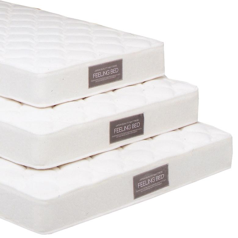 [ 12%offクーポン配布中! ] マットレス ボンネルコイルマットレス コイル数 403個 厚み 21cm ダブル ファブリック コットン ポリエステル 布製 シンプル アイボリー 白 寝具 ベッド ダブルマット ポケットマット Dマット