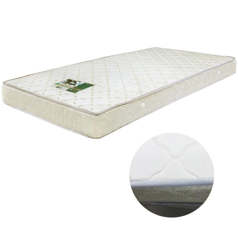 [ 11%OFFクーポンあり ] マットレス ボンネルコイルマットレス コイル数 352個 厚み 17cm セミダブル ファブリック プリント生地 キルティング加工 ポリエステル 布製 シンプル ホワイト 白 寝具 ベッド セミダブルマット ボンネルマット SDマット