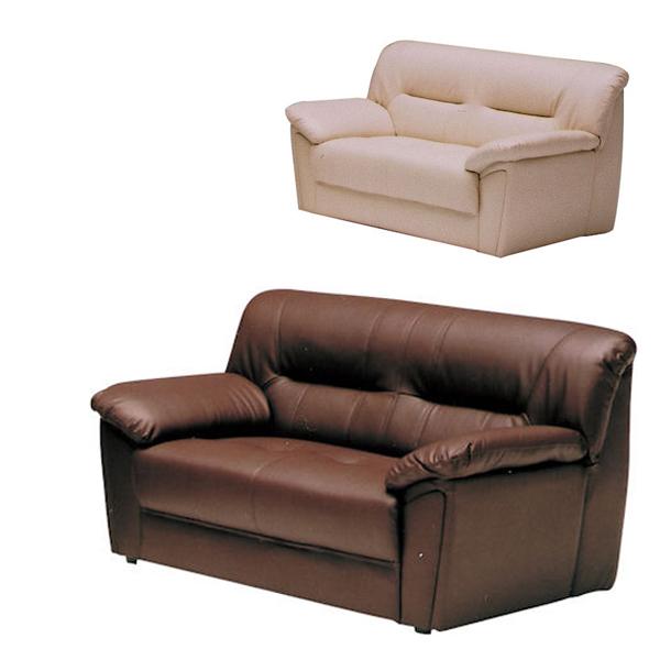 [ 11%OFFクーポンあり ] ソファ ソファー 2人掛け 二人掛け 2人用 二人用 2P 合成皮革 合皮レザー 合皮 レザー 肘付 モダン おしゃれ 応接室 選べる2色 アイボリー ブラウン