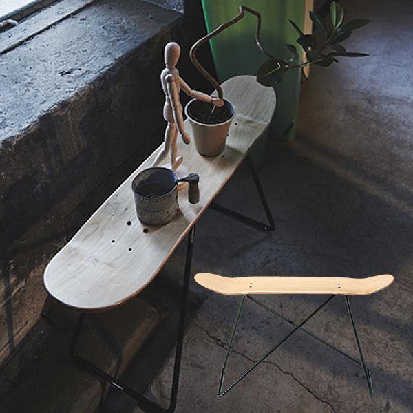 スケートボードスツール 長椅子 積層合板 スチール