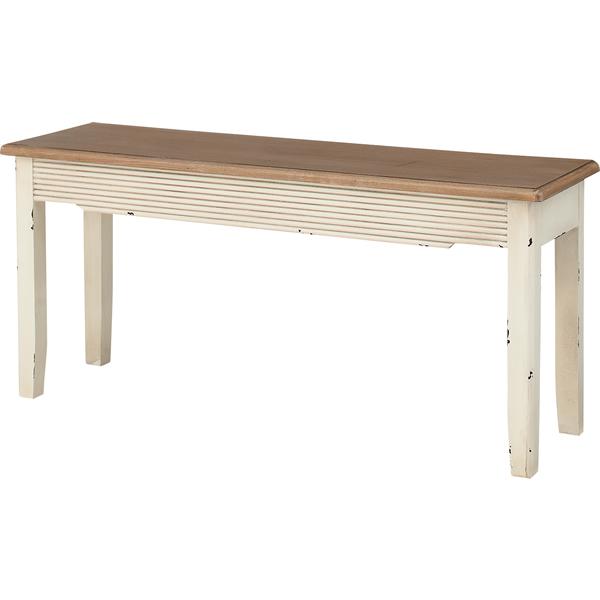 ベンチ 長椅子 天然木パイン フレンチカントリー お姫様カントリー 北欧風