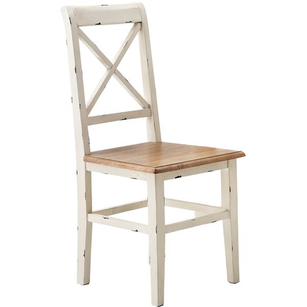 ダイニングチェア 食卓椅子 天然木パイン 2脚購入はお値打ち♪ フレンチカントリー お姫様カントリー 北欧風