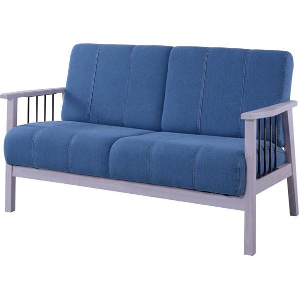 2Pソファ 2人掛椅子 肘付椅子 天然木ミンディ