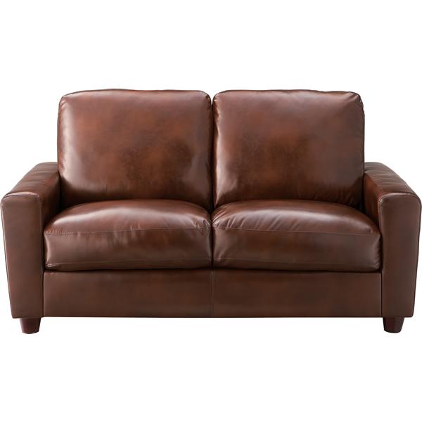 ソファ 2Pソファ 二人掛け椅子 Sバネ ウィービングベルト ボンデッドレザー 再生皮革