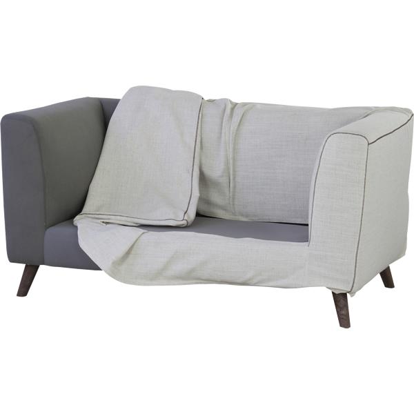 ソファ 2Pソファ ファブリック 二人掛け椅子 ウレタン Sバネ クッション2個付き アイボリー