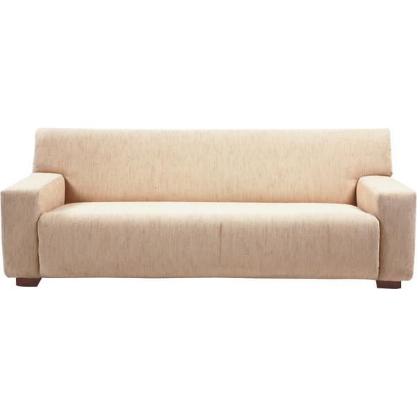 ソファ 3Pソファ 三人掛け椅子 ブラック アイボリー 木フレーム ウィービングベルト ポリプロピレン ポリエステル ※クッションは別売