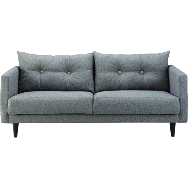 ソファ 3Pソファ ファブリック 三人掛け椅子 グレー ロータイプ使用可法人様宛(個人様でも屋号/店名有)はお安くなります。