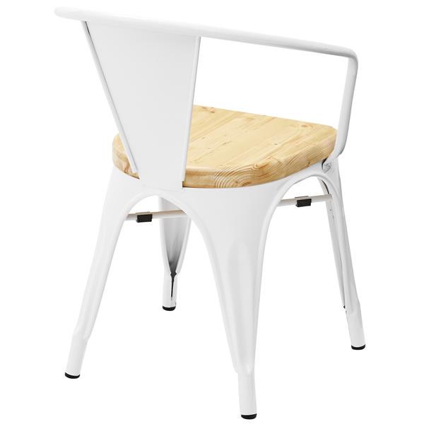 チェア 食卓椅子 パイン無垢材 スチール 2色対応 4脚購入はお値打ち(アソート可)