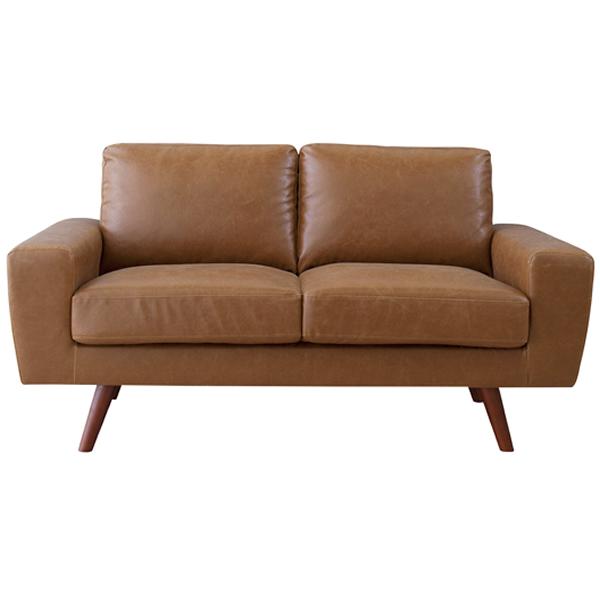 ソファ 2Pソファ ソフトレザー 二人掛け椅子 ヴィンテージ