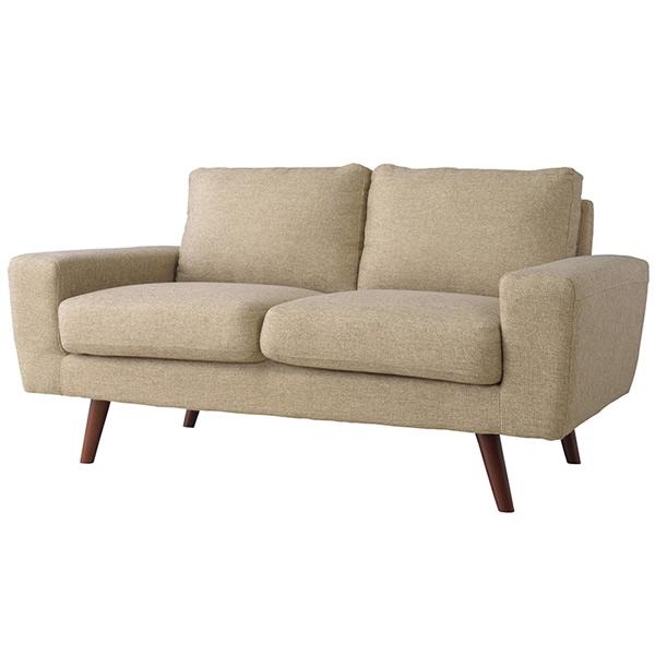 ソファ 2Pソファ ファブリック 二人掛け椅子 ヴィンテージ ベージュ法人様宛(個人様でも屋号/店名有)はお安くなります。