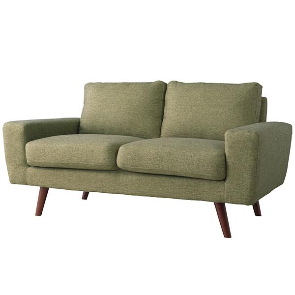 ソファ 2Pソファ ファブリック 二人掛け椅子 ヴィンテージ グリーン法人様宛(個人様でも屋号/店名有)はお安くなります。