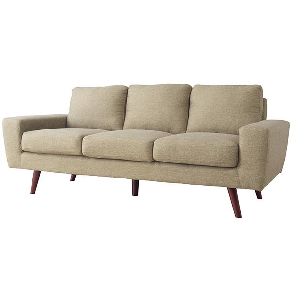 ソファ 3Pソファ ファブリック 三人掛け椅子 ヴィンテージ ベージュ法人様宛(個人様でも屋号/店名有)はお安くなります。