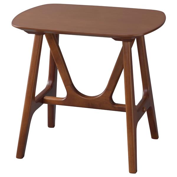 ソファテーブル ベッドテーブル サイドテーブル 天然木ラバーウッド