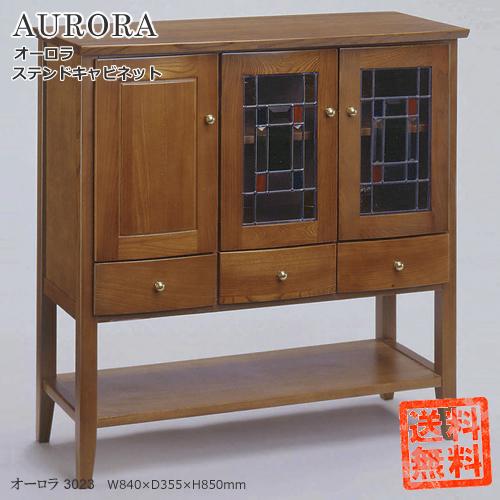AURORA【ステンドキャビネット/オーロラ3023】キレイなステンドガラスの家具で心が癒されます。