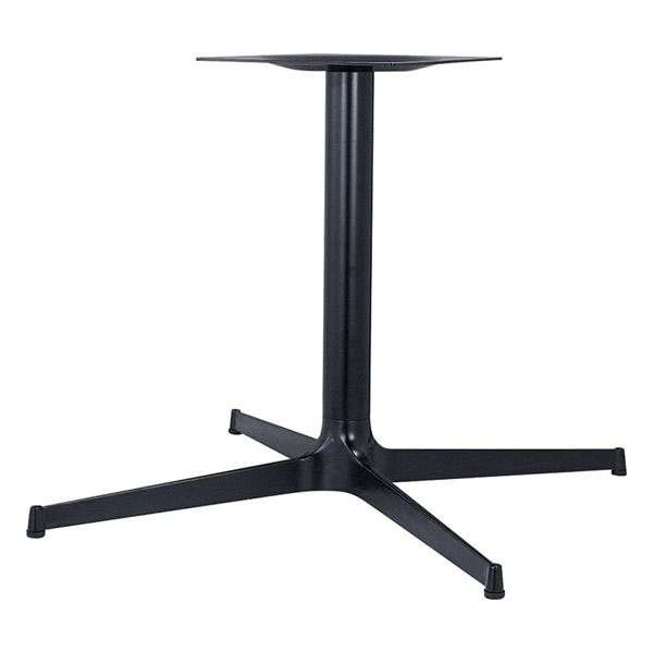 業務用 テーブル脚 カスタマイズ スチールX脚 黒塗装 シルバー塗装 鏡面仕上げ アジャスター付 こちらはSサイズ(ブラック・シルバー)の価格です