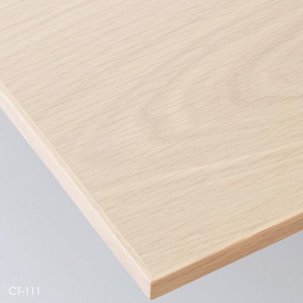 業務用 テーブル天板 オーダー カスタマイズ お好みサイズ アンティークホワイト アンティークナチュラル アンティークグレー アンティークブラウン オーク突板 木縁巻き W~500×D~500mm こちらは最小サイズの価格です