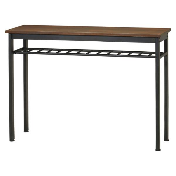 フュージョン ハイテーブル カウンターテーブル バーテーブル 120幅 食卓机 パイン無垢材
