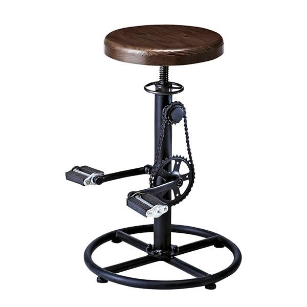 バーチェア INDUSTRIAL(インダストリアル)カウンターチェア 昇降式 ヴィンテージ 自転車ペダル式