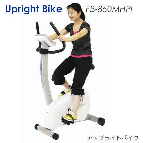 驚愕の静音性と滑らかさにエンターテイメント性を備えたUpright Bike【アップライトバイク/FB-860MHPi】REMARK/初心者にも使い易いワンタッチトレーニング付