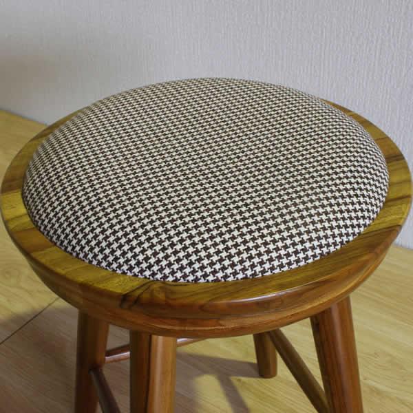 月光シリーズ スツール 丸椅子 昭和レトロ風 スンカイ無垢材 オール天然木 ナチュラル ウォールナット