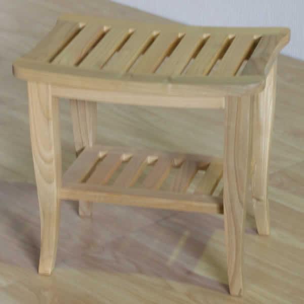 月光シリーズ スツール 長方形椅子 昭和レトロ風 スンカイ無垢材 オール天然木 ナチュラル ウォールナット