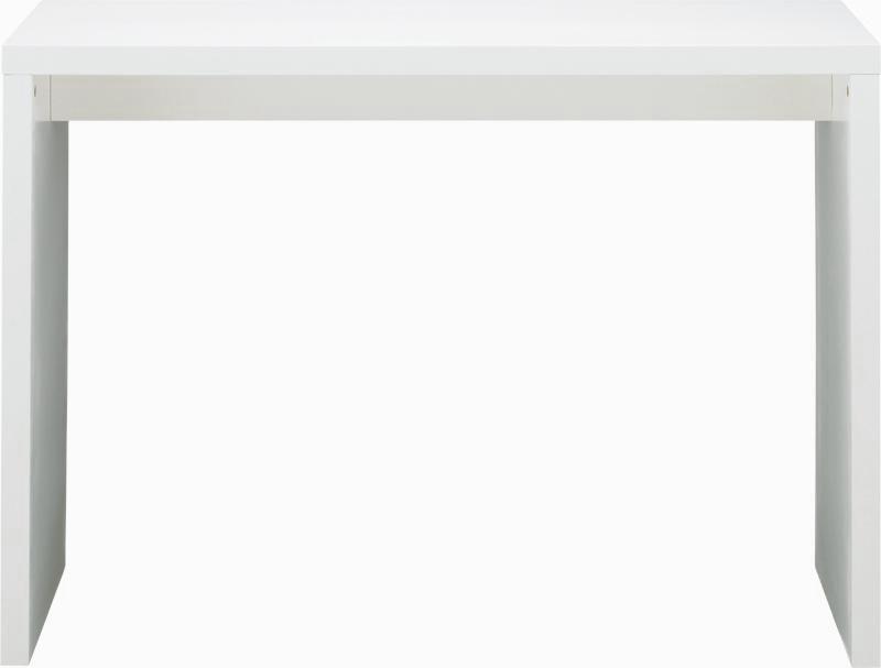 カウンターテーブル ホワイト コの字W1200 D380 H850