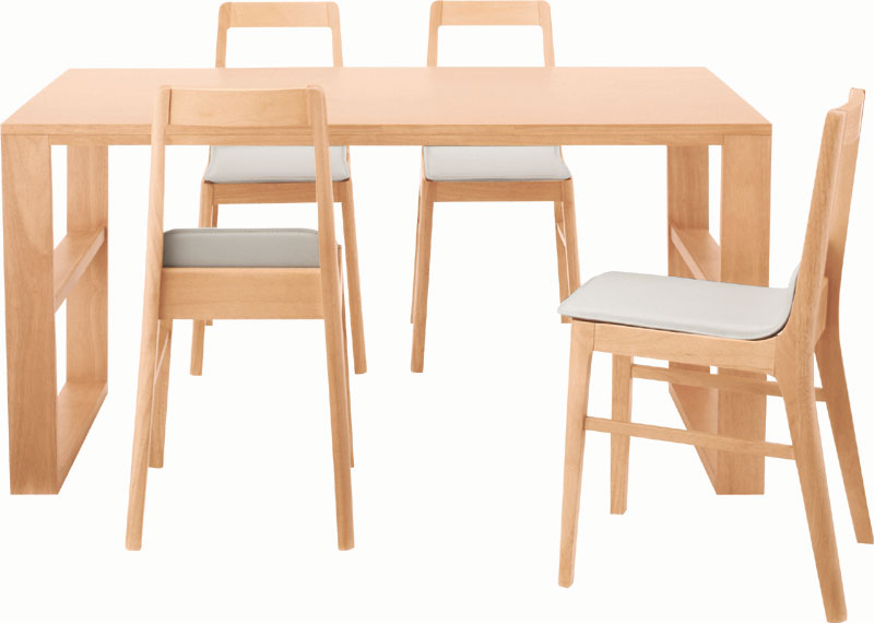 ダイニングテーブル 天然木天板 W1400mm