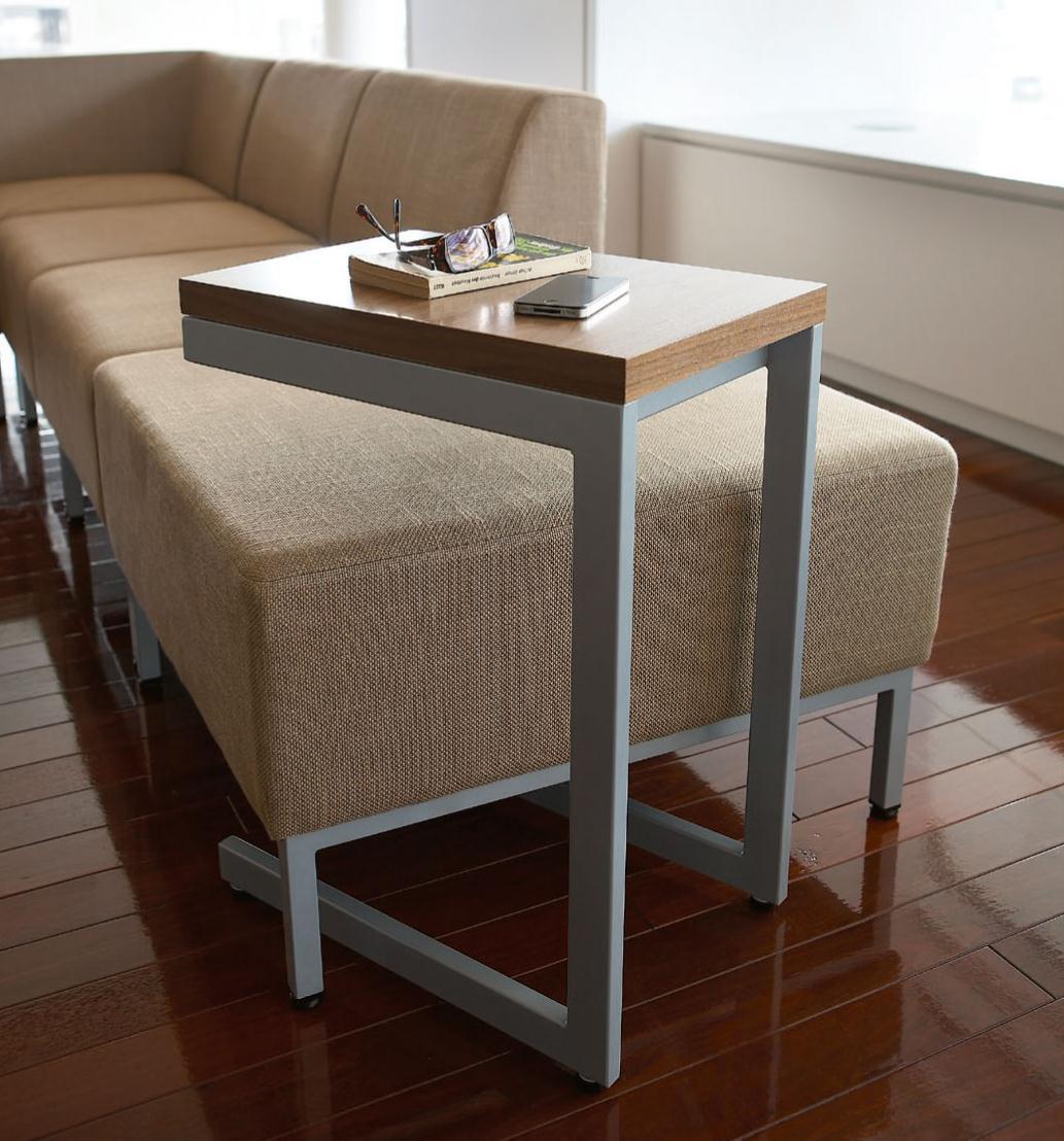 ★ローテーブル 落ち着いた雰囲気のウォールナット板目 H600mm【送料無料】