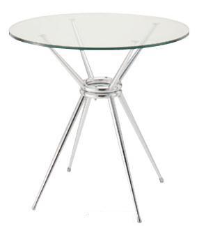 カフェテーブル ガラス天板 700mmφ【送料無料】お部屋を狭く感じさせない細い脚が特徴の円形ガラステーブル